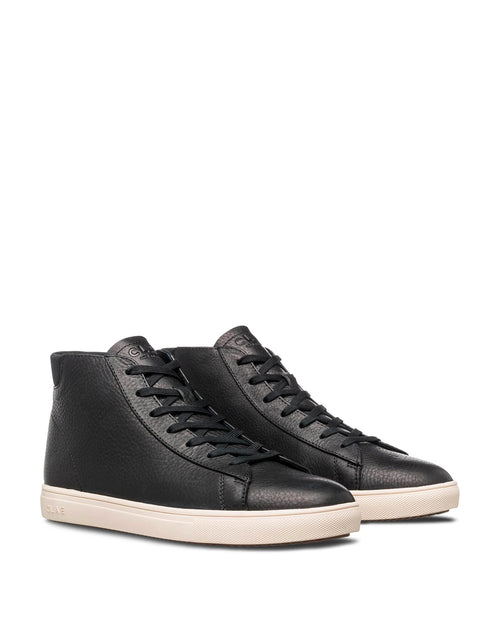 Clae Bradley Mid Black Pebbled Leather