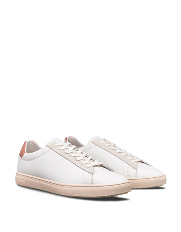 Clae Bradley White Milled Leather Terracotta