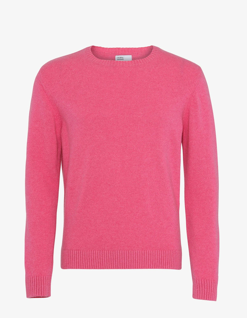 Colorful Standard Classic Merino Wool Crew Sweater in Bubblegum Pink