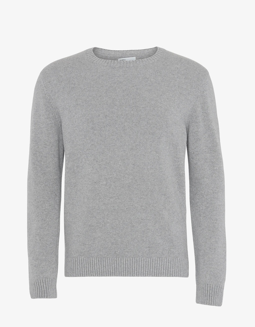 Colorful Standard Classic Merino Wool Crew Sweater in Heather Grey