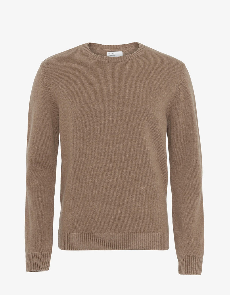 Colorful Standard Classic Merino Wool Crew Sweater Warm Taupe