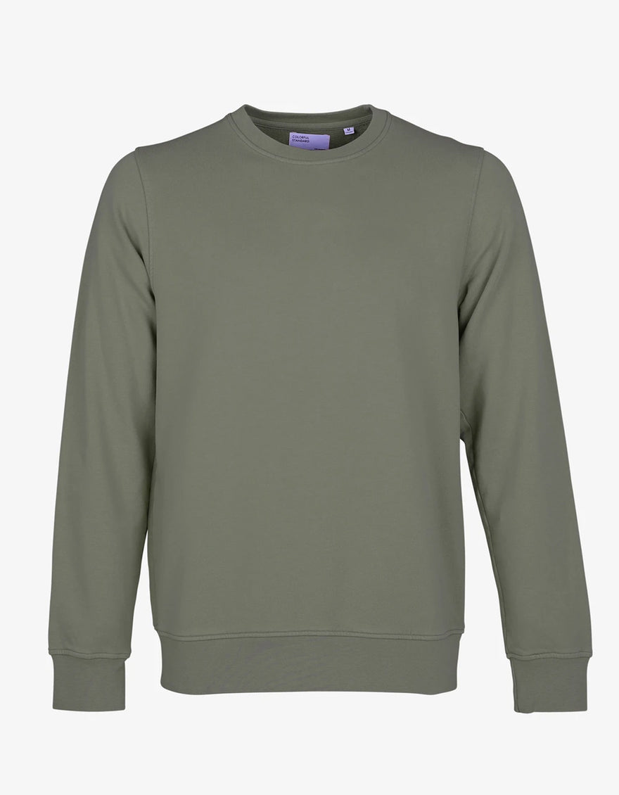 Colorful Standard Classic Organic Crew Neck Sweatshirt in Dusty Olive