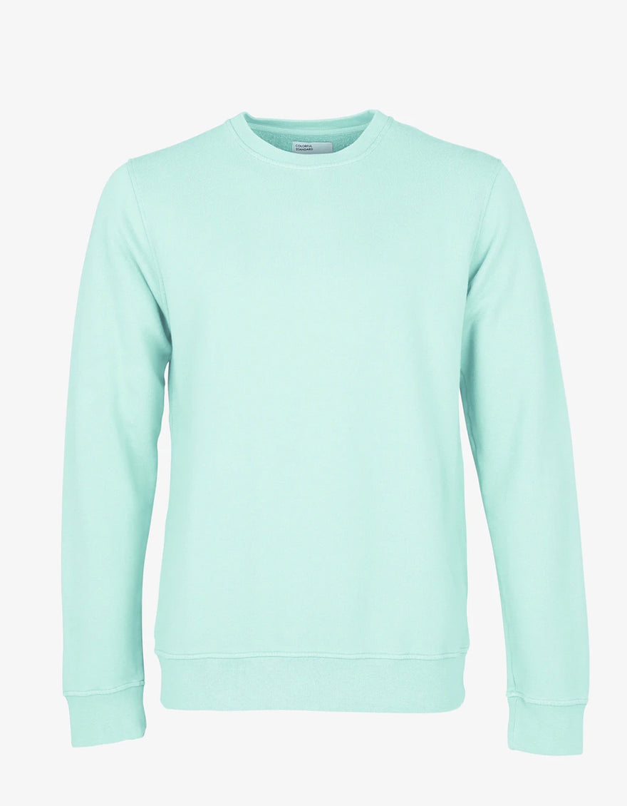 Colorful Standard Classic Organic Crew Neck Sweatshirt in Light Aqua