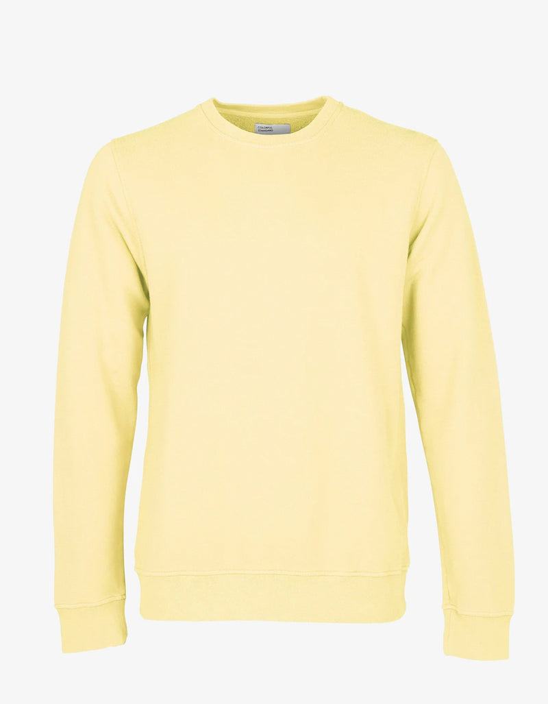 Colorful Standard Classic Organic Crew Neck Sweatshirt in Soft Yellow