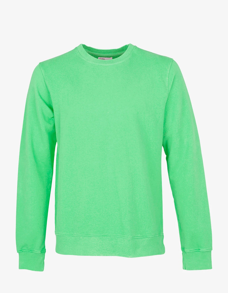 Colorful Standard Classic Organic Crew Neck Sweatshirt in Spring Green