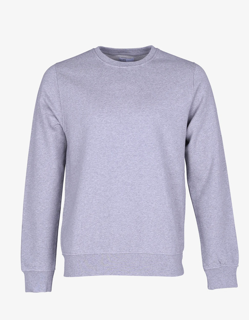 Colorful Standard Classic Organic Crew Neck Sweatshirt in Heather Grey
