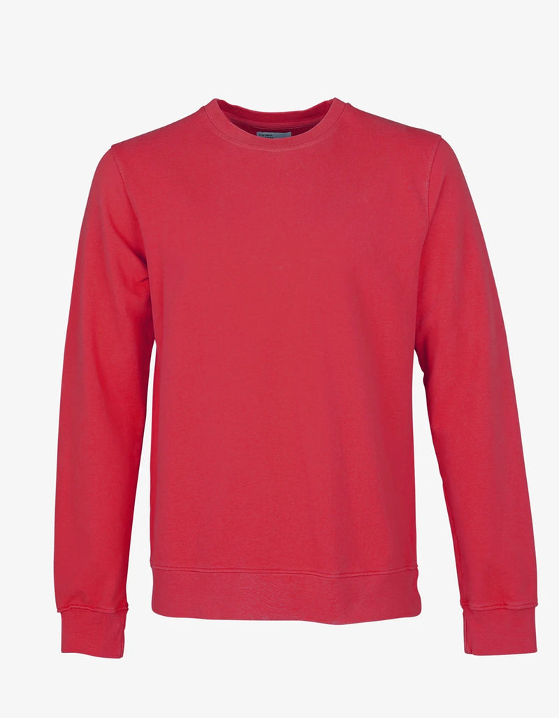 Colorful Standard Classic Organic Crew Sweatshirt Scarlet Red