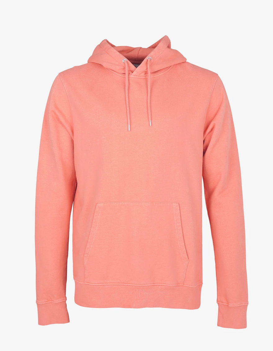 Colorful Standard Classic Organic Hooded Sweatshirt in Bright Coral