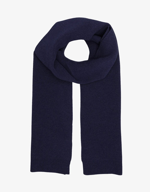 Colorful Standard Merino Wool Scarf Navy Blue