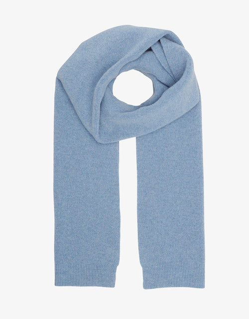 Colorful Standard Merino Wool Scarf Stone Blue