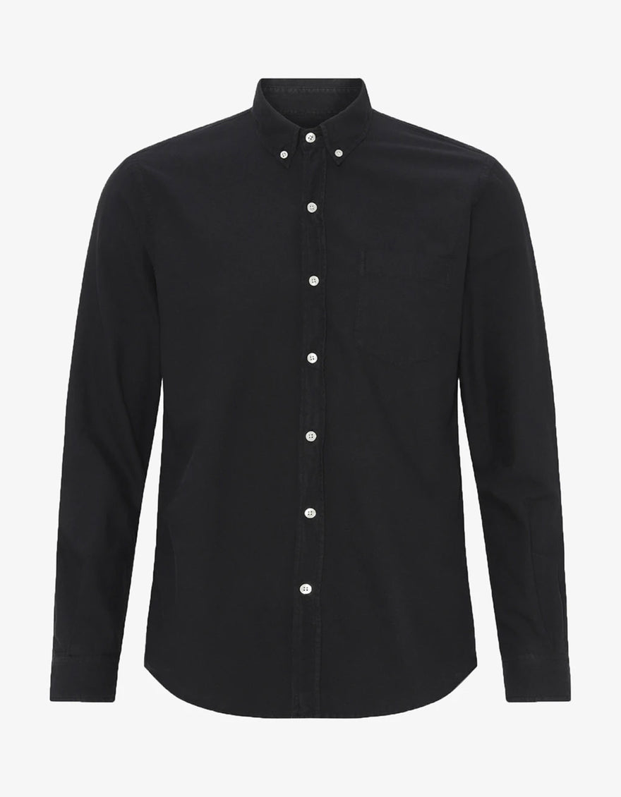 Colorful Standard Organic Button Down Shirt in Deep Black