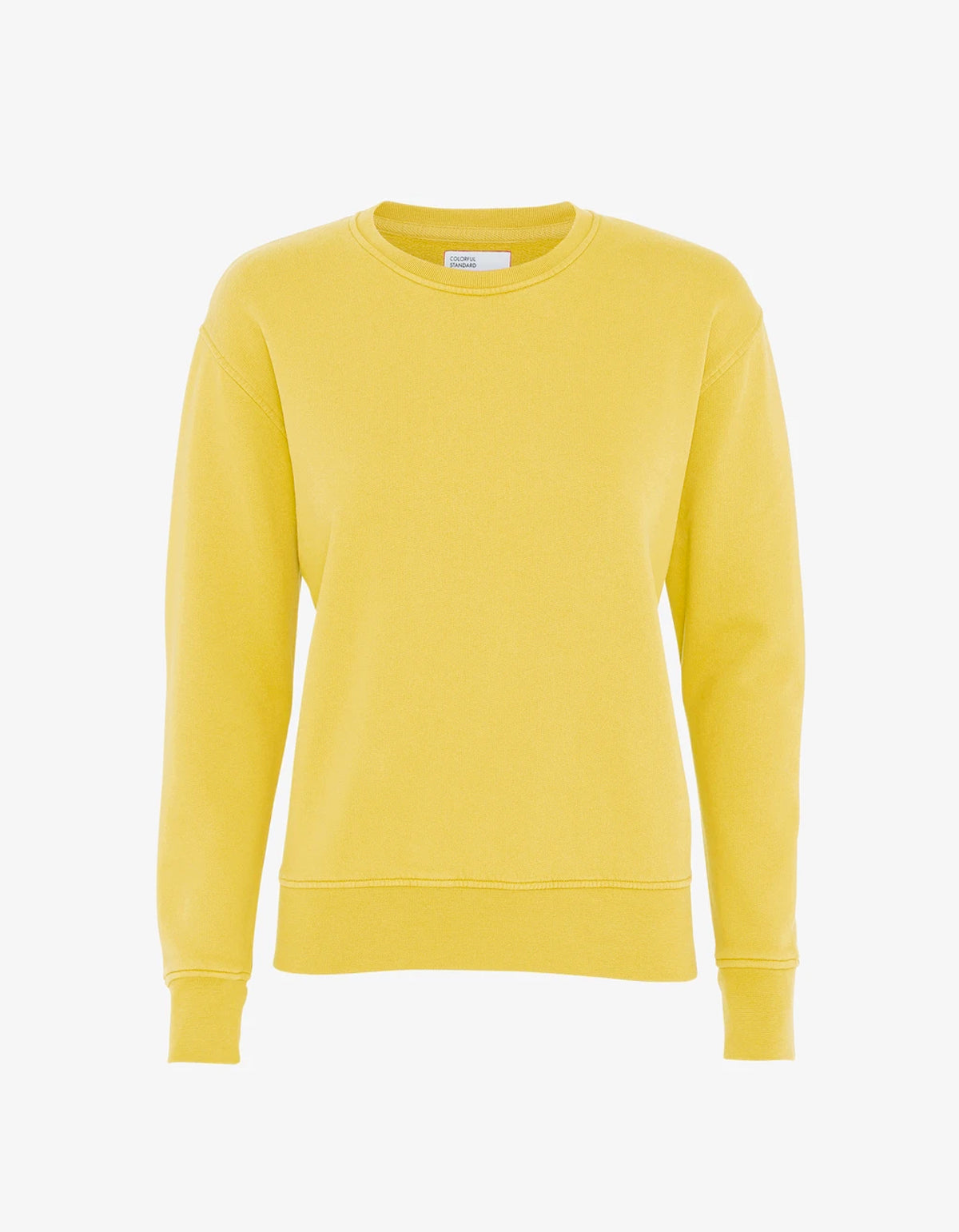Colorful Standard Women Classic Organic Crew Sweatshirt Lemon Yellow
