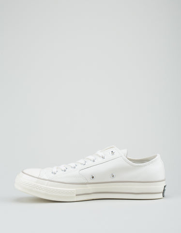 Converse Men's Chuck 70 Leather Low Top Egret Papyrus Egret