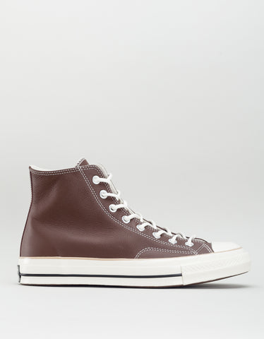 Converse Men's Chuck 70 Leather High Top Chocolate Light Fawn Egret