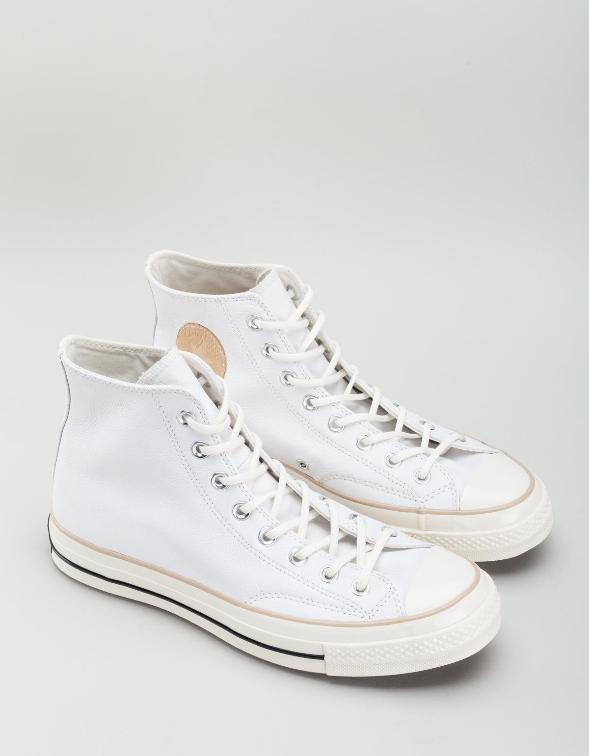 b6be2dda554 Converse Men s Chuck 70 Leather High Top White Light Fawn Egret ...