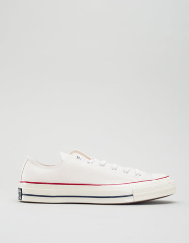 Converse Men's Chuck 70 Low Top Parchment Garnet Egret