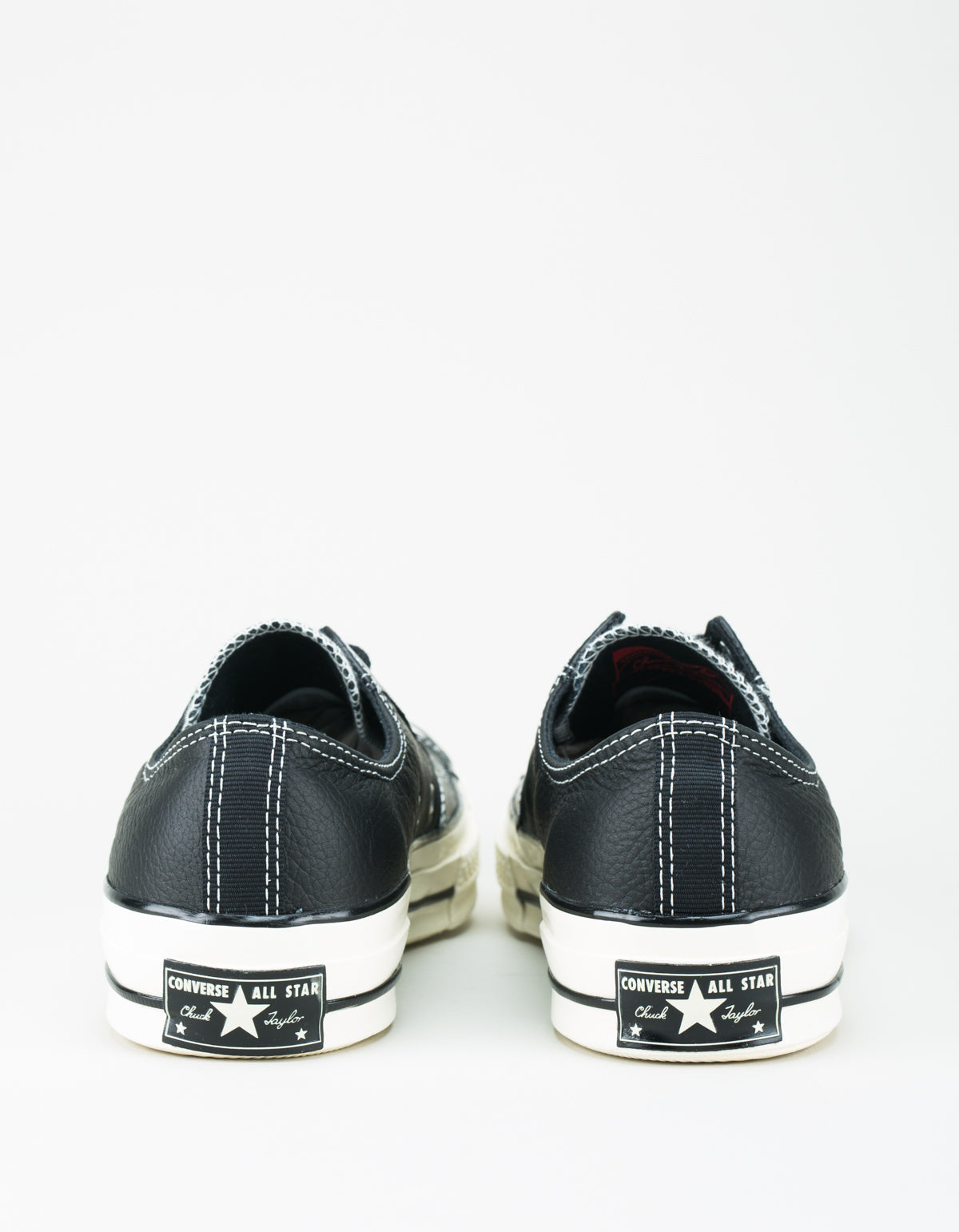 Converse Men's Chuck 70 Leather Low Top Black Black Egret