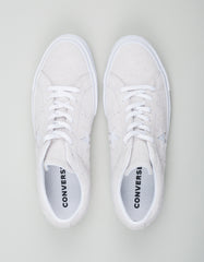 Converse One Star Vintage Suede Low Top White Monochrome