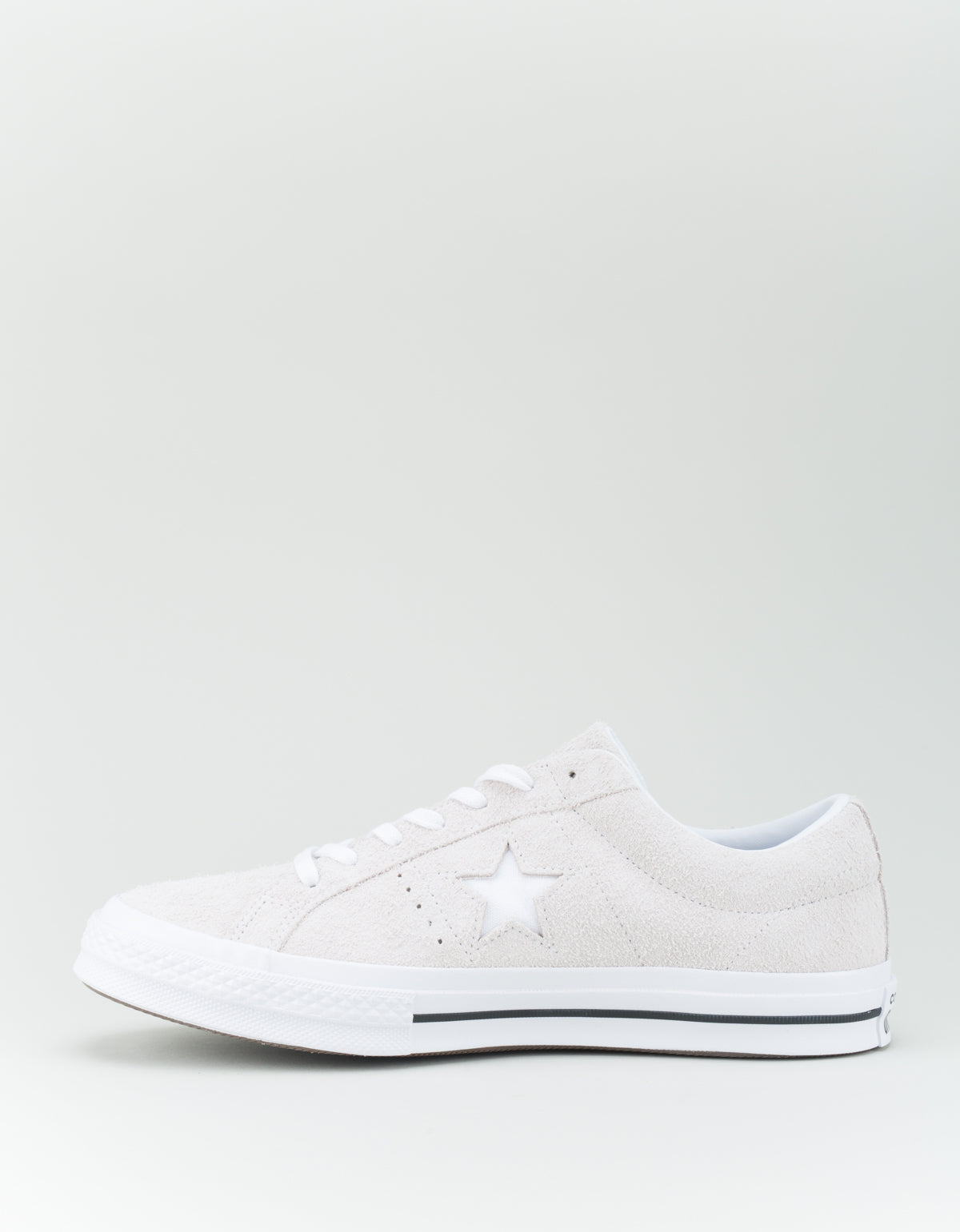 Converse Men's One Star Vintage Suede Low Top White Monochrome