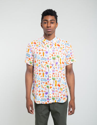 Corridor Hot Fun Summertime Short Sleeve Shirt Multi