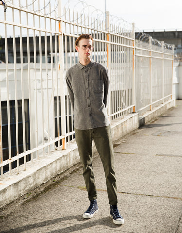 Corridor Jasper Yarn Shirt Charcoal Grey