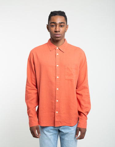 Corridor Linen Long Sleeve Shirt Clay