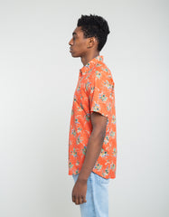 Corridor Tart Ruby Hawaiian Short Sleeve Shirt Orange