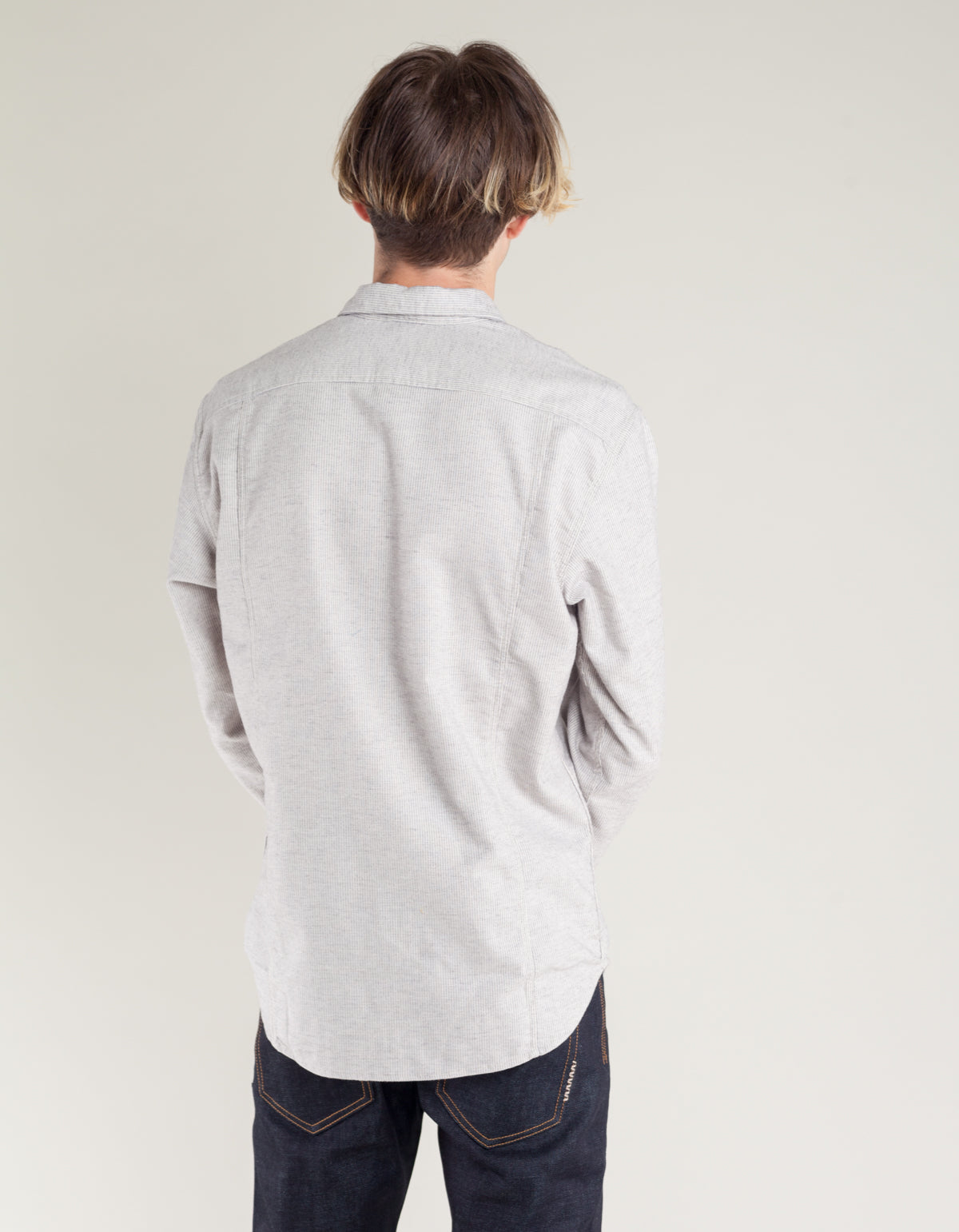Corridor Variegated Stripe Shirt Grey