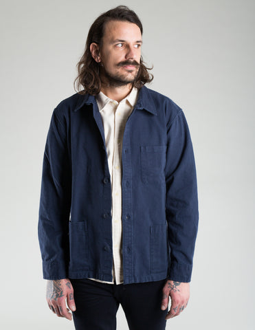 Corridor Water Resistent 10oz Duck Overshirt Navy