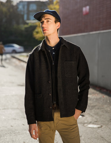 Corridor Lambswool Jacket Charcoal