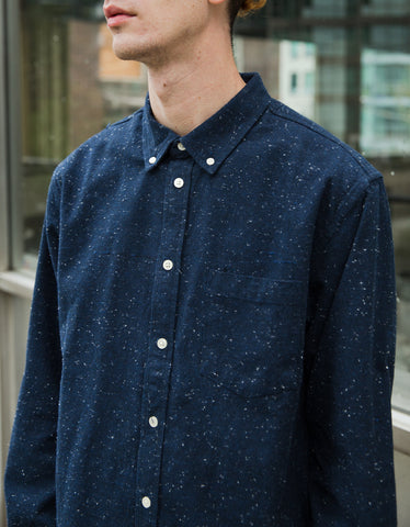 Corridor Slub Heavy Shirt Navy