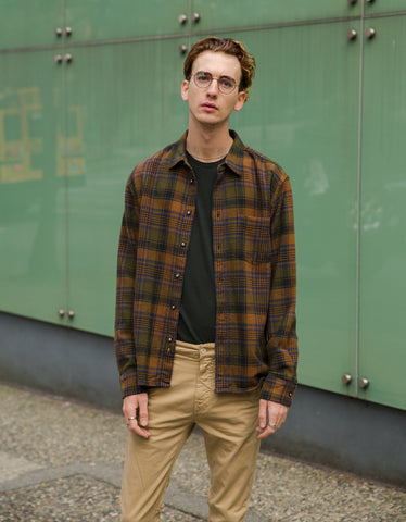 Corridor Unity Plaid Shirt Brown
