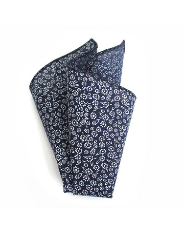 Cursor and Thread Lakeview Pocket Square Navy