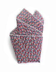 Cursor and Thread Longview Pocket Square Red Blue