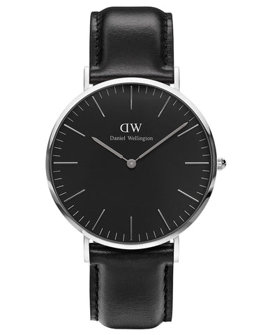 Daniel Wellington Classic Black Sheffield Watch Silver