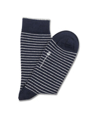 Democratique Originals Mini Stripe Sock Navy Broken White