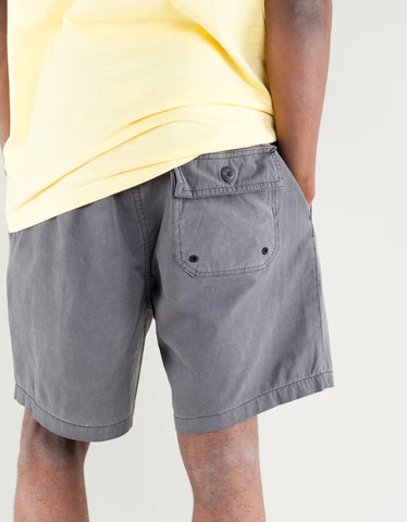 Deus Sandbar Solid Garment Dye Short Black