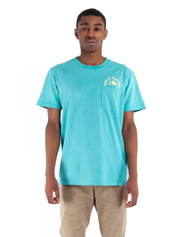 Deus Sunbleached Impermenance Tee Lagoon Yellow