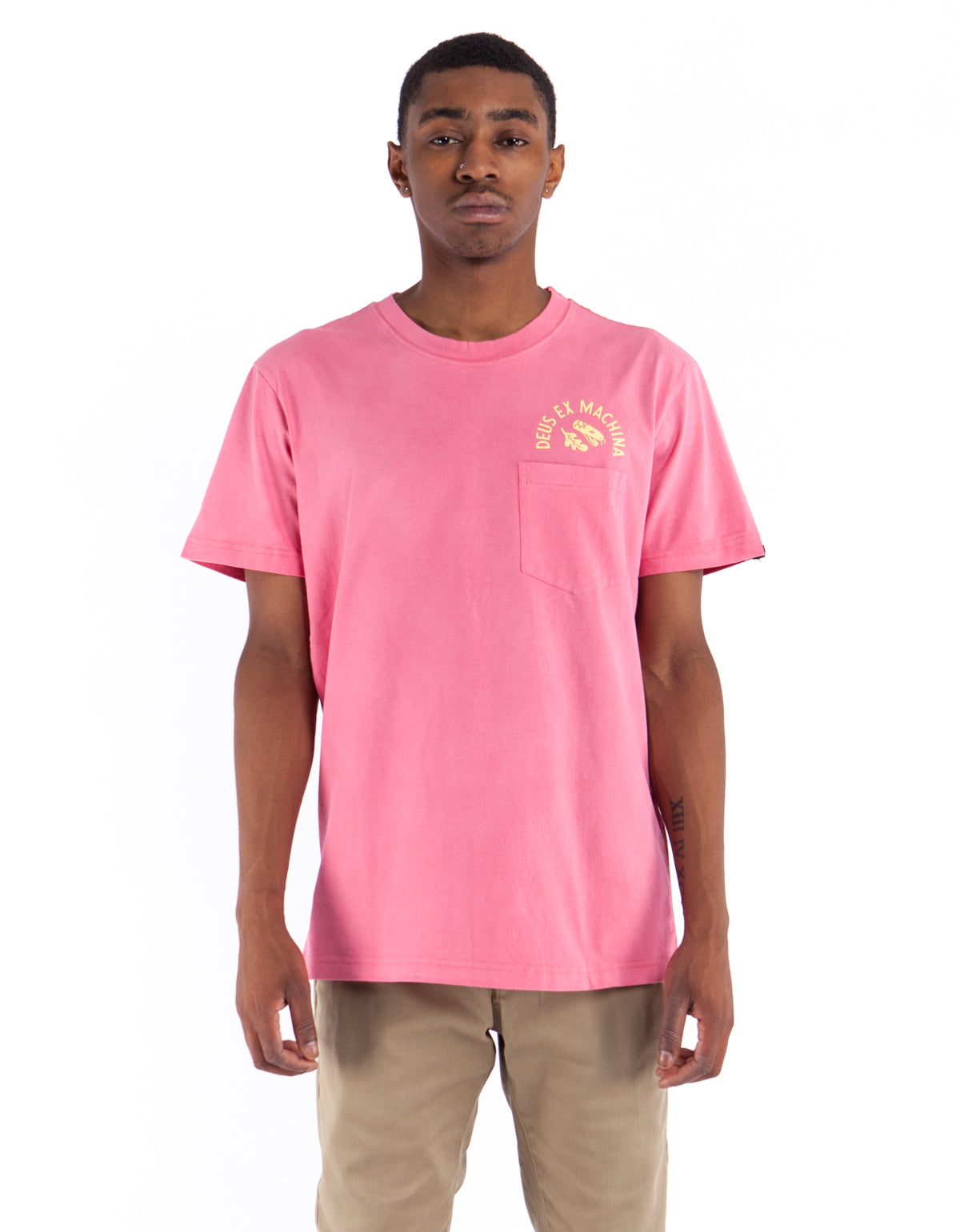Deus Sunbleached Possibilities Tee Rose Yellow