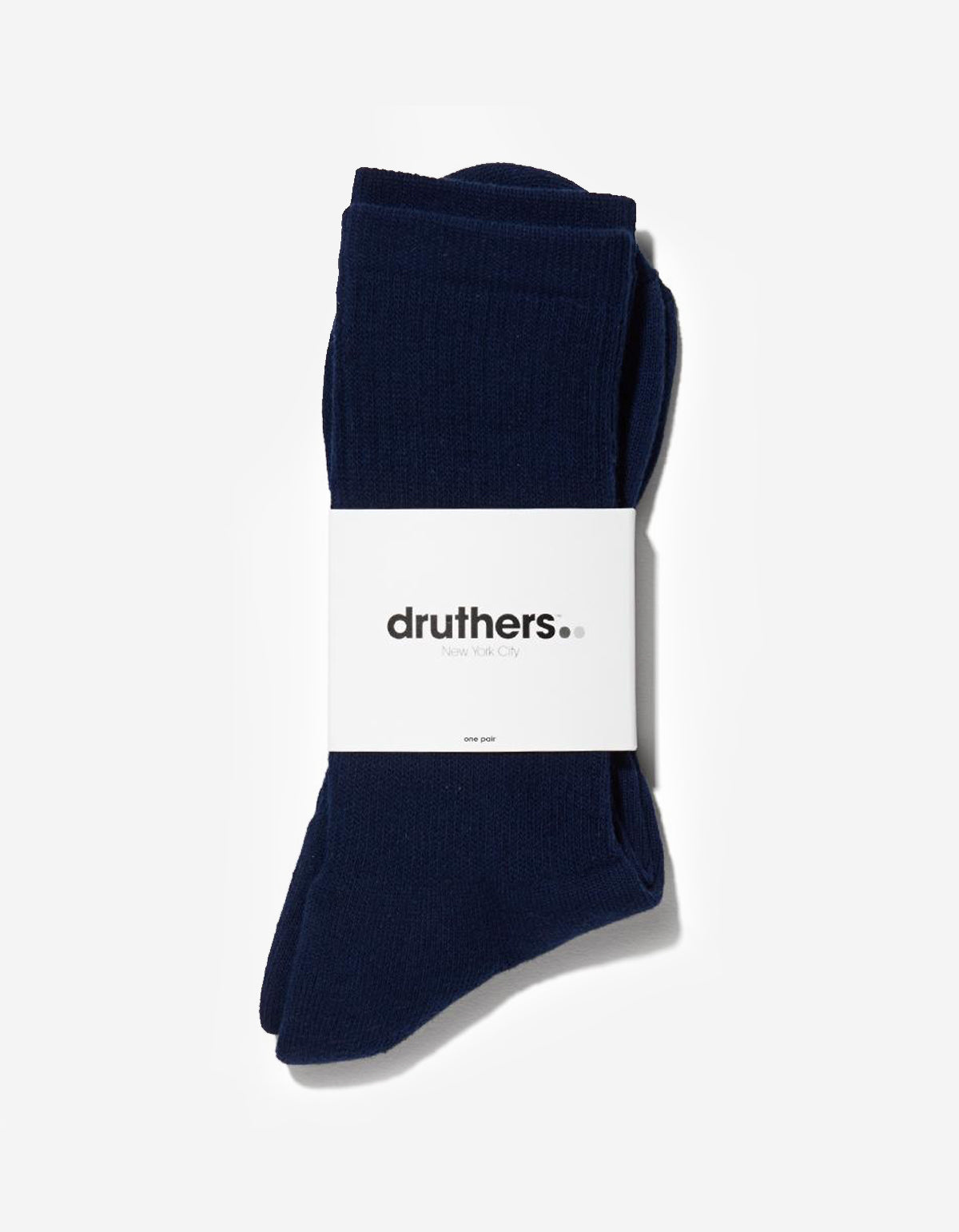 Druthers Everyday Crew Socks Navy