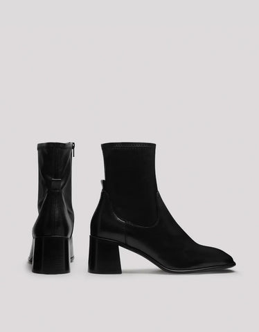 E8 by Miista Azra Stretch Leather Boot in Black