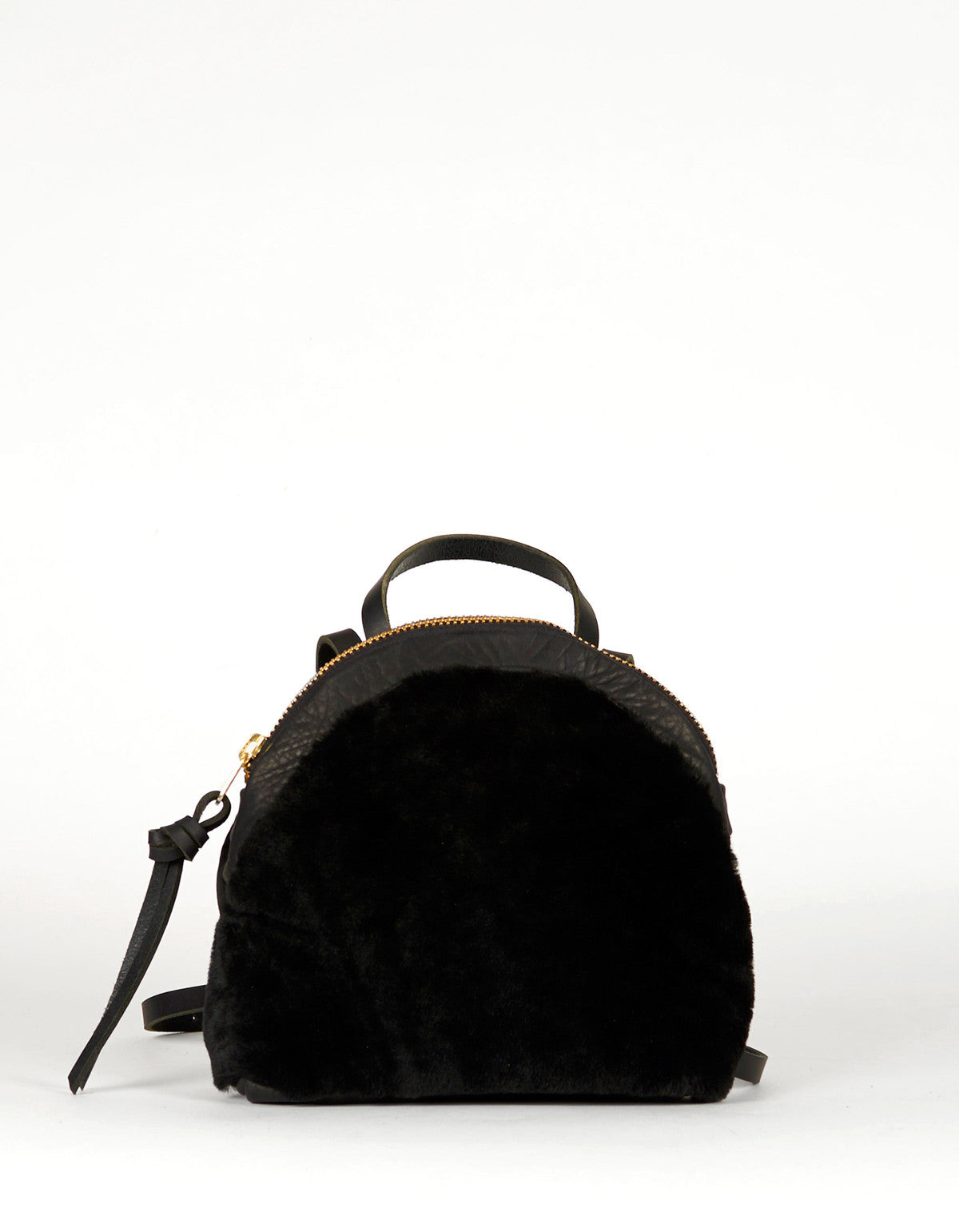 Eleven Thirty Anni Mini Backpack Black Shearling - Still Life - 1