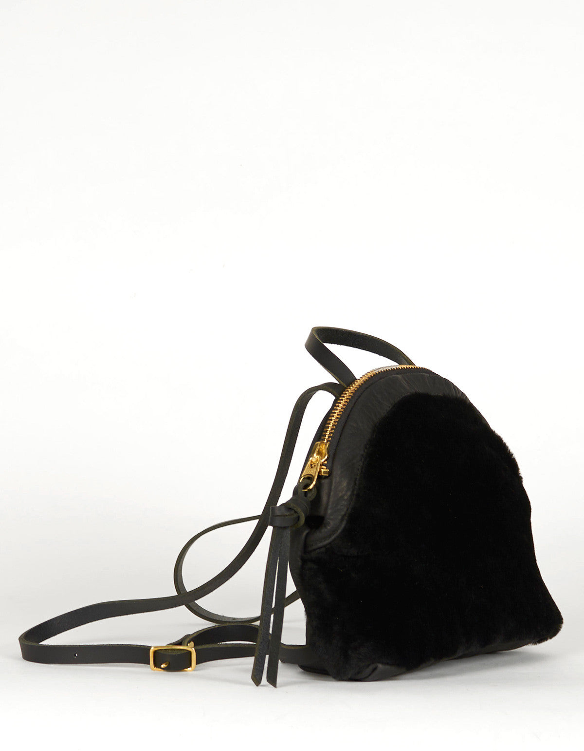Eleven Thirty Anni Mini Backpack Black Shearling - Still Life - 4