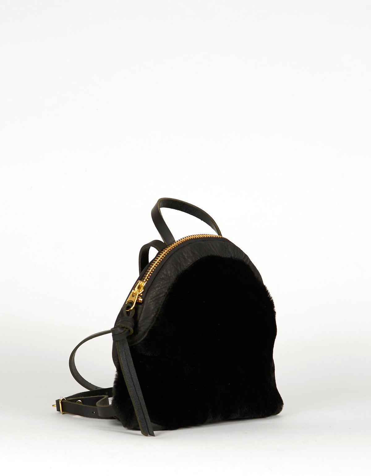 Eleven Thirty Anni Mini Backpack Black Shearling - Still Life - 2