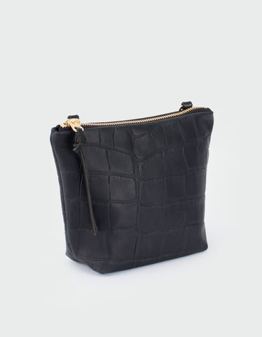 Eleven Thirty Melissa Mini Shoulder Bag Black Croc