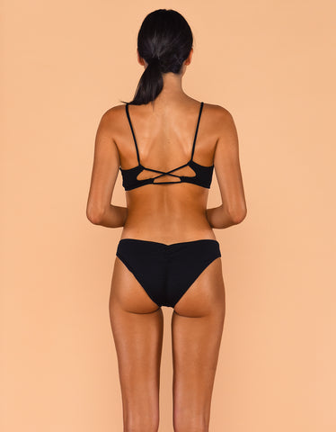 Fenntessa Full Coverage Ruched Bottom Black