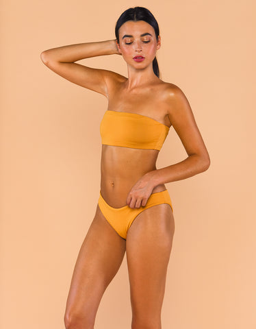 Fenntessa Full Coverage Ruched Bottom Mustard