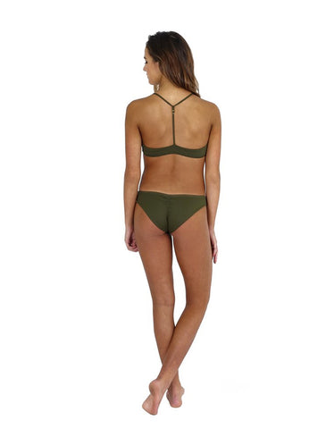 Fenntessa Full Coverage Ruched Bottom Olive