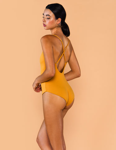 Fenntessa One Piece Swimsuit Mustard