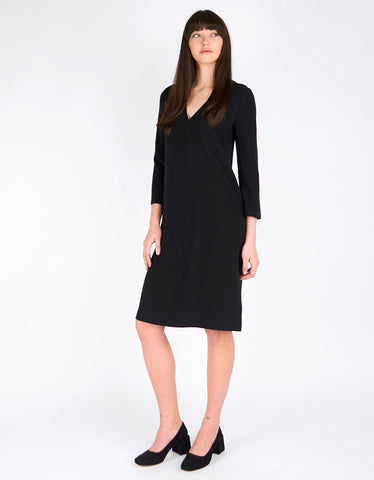 Filippa K Deep V-Neck Dress Black - Still Life - 1